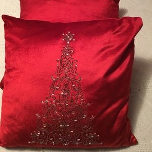 Other - Red Plush Christmas Pillows Never Used